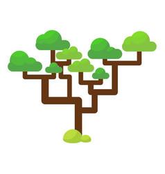 Green savannah tree flat vector