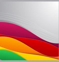 flat material design vector image