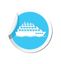 Ship icon round blue copy vector