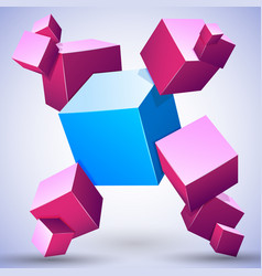 3d abstract composition vector