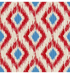 Traditional ikat seamless ornament vector