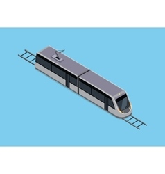 Isometric of a subway train vector