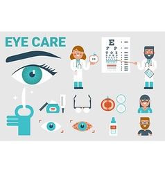 Eye care concept vector