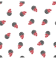 Global fire flat seamless pattern vector