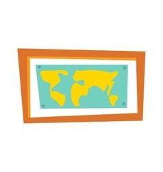 World map countries picture frame travel geography vector