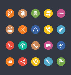 Glyphs colored icons 14 vector