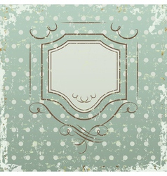 Grunge retro background with frame vector