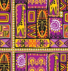 afrikan pattern 3 vector image