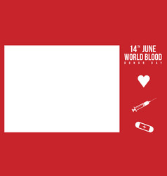 Background of world blood donor day vector