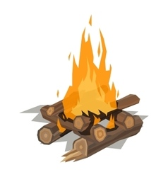 Bonfires isolated vector image