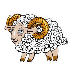 cartoon image of goat vector image vector image