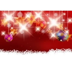 Christmas decoration on blur red vector image vector image