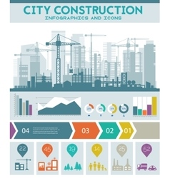 City skyline construction vector