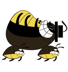 Cockroach run cartoon vector