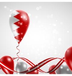Flag of Bahrain on balloon vector image