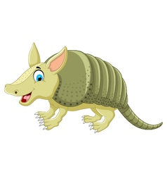 Funny armadillo cartoon posing vector