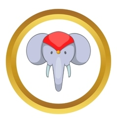 Head of decorated elephant icon vector