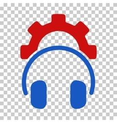 Headphones configuration gear icon vector