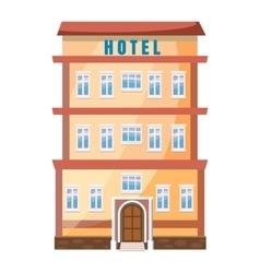 Hotel building icon in cartoon style vector image