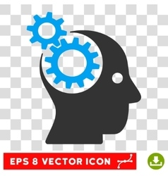 Intellect gears eps icon vector