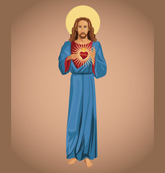 jesus christ sacred heart hope vector image