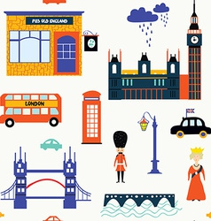 London symbols seamless patt vector image