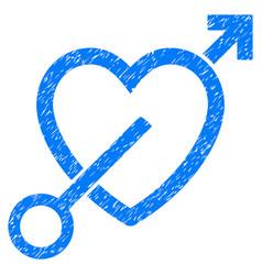 Love arrow grunge icon vector