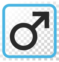 Male Symbol Icon In a Frame vector image vector image