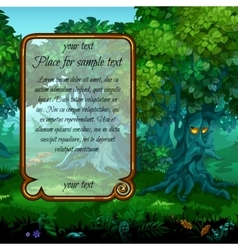 Mystical nature and frame for text on the left vector image vector image