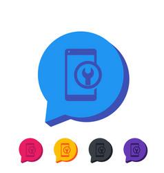 Phone repair service icon vector