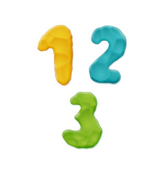 plasticine clay numbers vector image