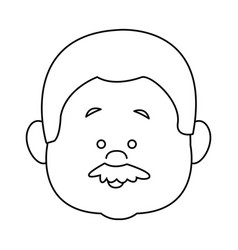 Profile man face character person head cartoon vector