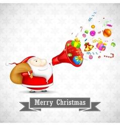 Santa with christmas goodies vector