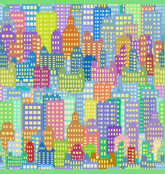 seamless background with city building different vector image