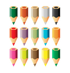 Set of color pencils vector