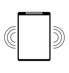 Silhouette mobile phone wifi internet signal vector