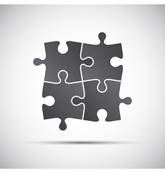 Simple of a four pieces puzzle vector image