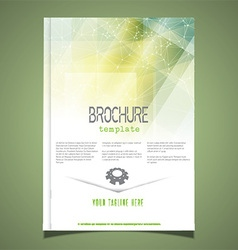 Brochure template design 2806 vector