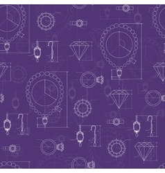 Jewelry production sketch seamless pattern vector