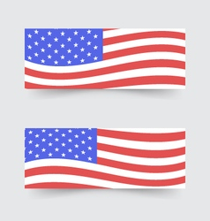 Usa flag banners vector