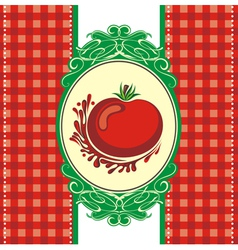 Menu design with a tomato vector image