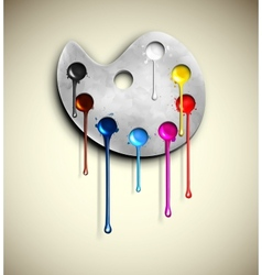 Watercolor paints vector image