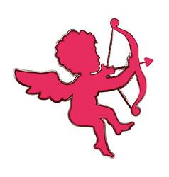 Cupid love valentine vector