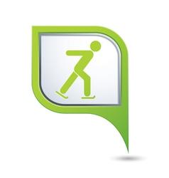 Skater icon green map pointer copy vector