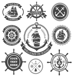 Nautical Set 4 vector image
