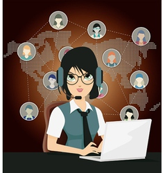 Business and communication vector
