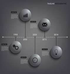 Info graphic time line round element template vector