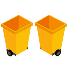 3d design for yellow trashcans vector image
