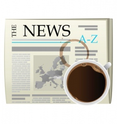 Coffee and newspaper vector