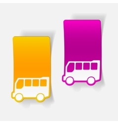Realistic design element bus vector